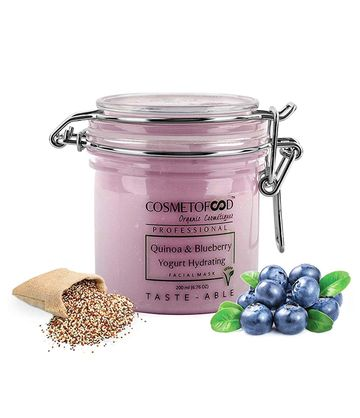 Cosmetofood | Cosmetofood Professional Quinoa & Blueberry Yogurt Hydrating Facial Face Mask For Men And Women, 200ml