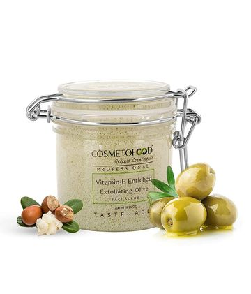 Cosmetofood | Cosmetofood Professional Vitamin-E Enriched Exfoliating Olive Face Scrub, 200ml