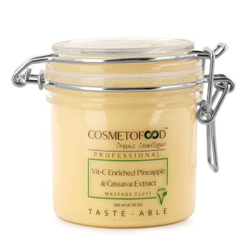 Cosmetofood | Cosmetofood Professional Vit- C Enriched Pineapple & Cassava Extract Face Massage Fluff Cream, 200 ml