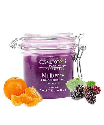 Cosmetofood | Cosmetofood Professional Mulberry & Licorice Brightening Facial Face Mask For Men And Women, 200 ml
