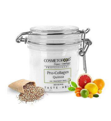 Cosmetofood | Cosmetofood Professional Pro-Collagen Quinoa Eye Treatment Mask for Puffy Eye & Dark Circles, 200 ml