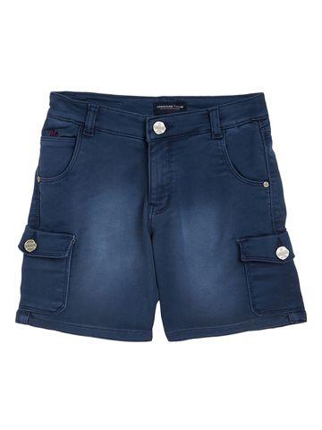 Crimsoune Club | Crimsoune Club Boy's Blue Solid Shorts