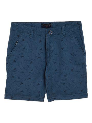 Crimsoune Club   Crimsoune Club Boy's Blue Printed Shorts