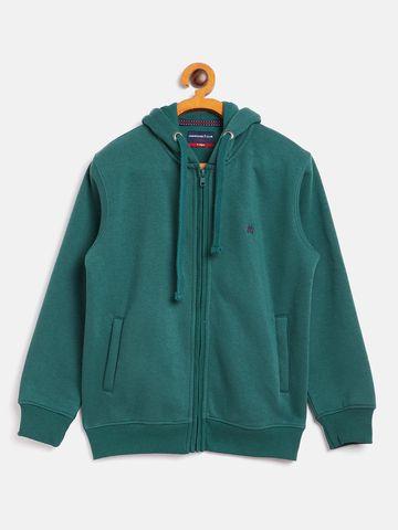 Crimsoune Club | Crimsoune Club Boy Solid Green Sweat Shirt