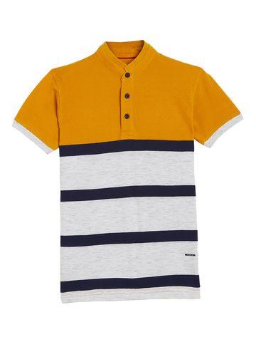 Crimsoune Club | Crimsoune Club Boy's Mustard Striped T-Shirt