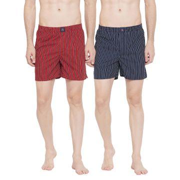 Crimsoune Club | Crimsoune Club Pack of 2 Men's Striped Boxer