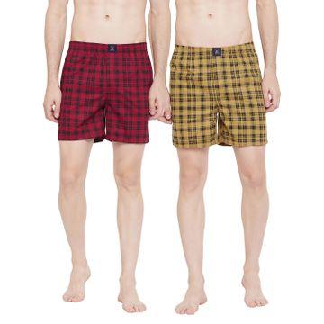 Crimsoune Club | Crimsoune Club Pack of 2 Men's Checked Boxer