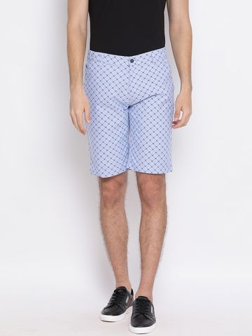 Crimsoune Club | Crimsoune Club Printed Light Blue Men's Shorts