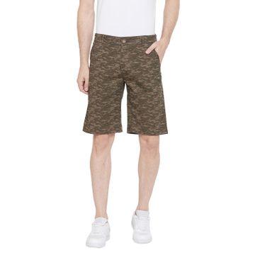 Crimsoune Club | Crimsoune Club Men's Olive Printed Shorts