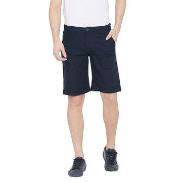 Crimsoune Club | Crimsoune Club Men's Navy Blue Solid Shorts