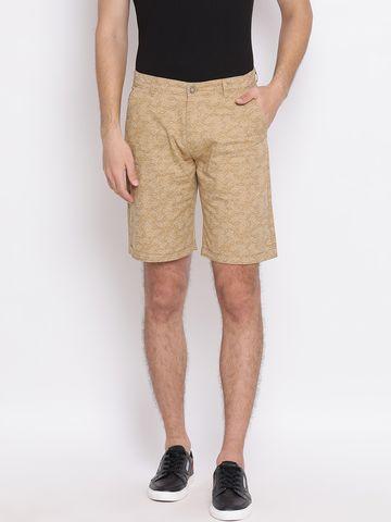 Crimsoune Club | Crimsoune Club Printed Beige Men's Shorts