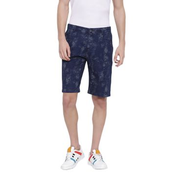 Crimsoune Club | Crimsoune Club Men's Navy Blue Printed Shorts