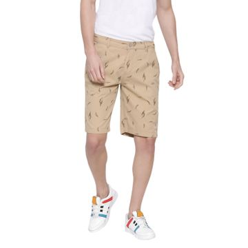 Crimsoune Club | Crimsoune Club Men's Khaki Printed Shorts