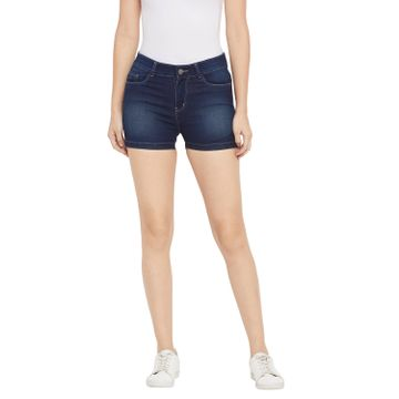 Crimsoune Club | Crimsoune Club Women's Navy Blue Solid Shorts