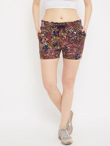 Crimsoune Club   Crimsoune Club Womens Multi Printed Shorts