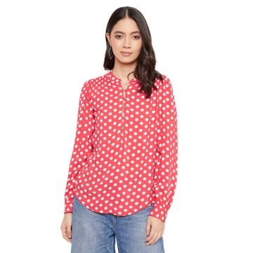 Crimsoune Club | Crimsoune Club Women's Red Printed Top