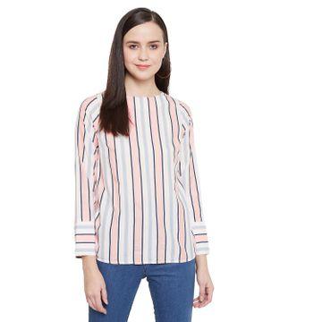 Crimsoune Club | Crimsoune Club Pink Striped Womens Top
