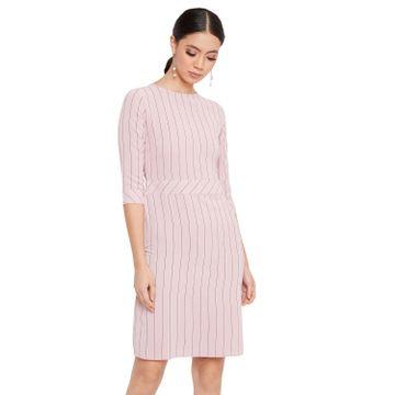 Crimsoune Club   Crimsoune Club Women's Pink Striped Dress