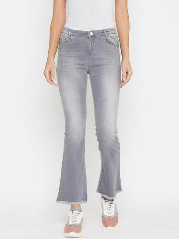 Crimsoune Club | Crimsoune Club Women's Solid Grey Skinny Fit Jeans
