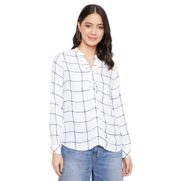 Crimsoune Club | Crimsoune Club Women's White Checked Shirt