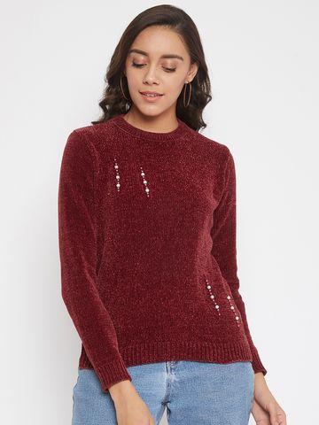 Crimsoune Club   Crimsoune Club Womens Solid Red Sweater