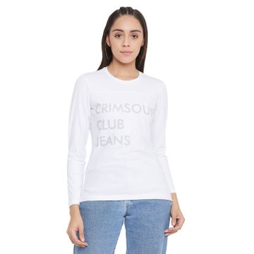 Crimsoune Club | Crimsoune Club Women's White Printed T-Shirt