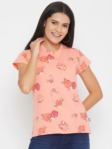 Crimsoune Club | Crimsoune Club Women's Printed Pink T-shirt