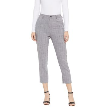 Crimsoune Club | Crimsoune Club Women's Grey Striped Trouser