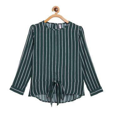 Crimsoune Club | Crimsoune Club Green Striped Girl's Top