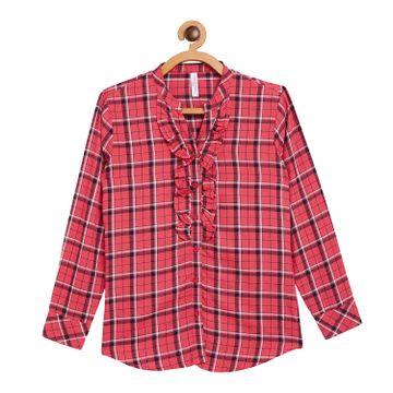 Crimsoune Club | Crimsoune Club Red Check Girls Shirt