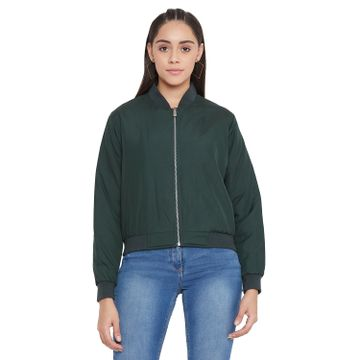 Crimsoune Club   Crimsoune Club Women's Green Solid Jacket