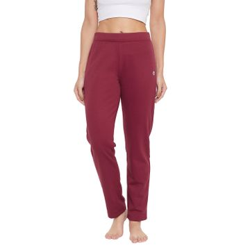Crimsoune Club | Crimsoune Club Womens Maroon Solid Track Pants