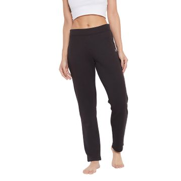 Crimsoune Club | Crimsoune Club Womens Black Solid Track Pants