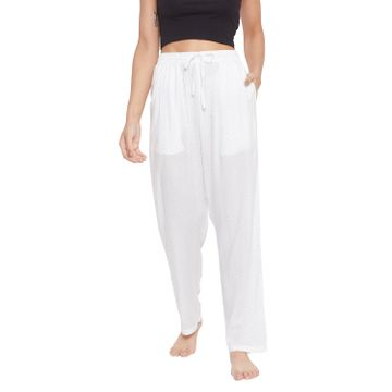 Crimsoune Club | Crimsoune Club Womens White Printed Lounge Pants