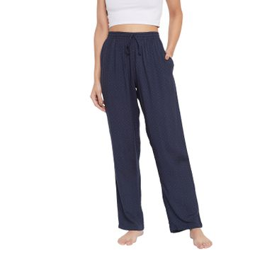 Crimsoune Club | Crimsoune Club Womens Navy Blue Printed Lounge Pants