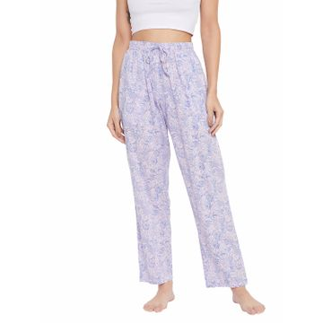 Crimsoune Club | Crimsoune Club Womens Blue Printed Lounge Pants
