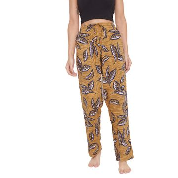 Crimsoune Club | Crimsoune Club Womens yellow Printed Lounge Pants
