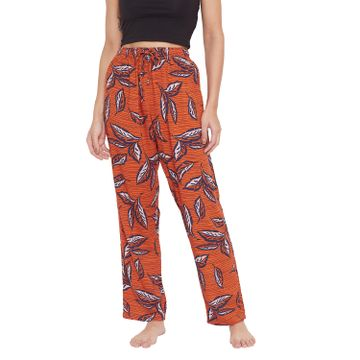 Crimsoune Club | Crimsoune Club Womens orange Printed Lounge Pants
