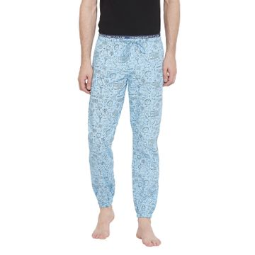 Crimsoune Club | Crimsoune Club Men's Sky Blue Printed Lower