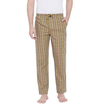 Crimsoune Club | Crimsoune Club Mens Checked Beige Lounge Pants