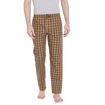 Crimsoune Club | Crimsoune Club Mens Checked Mustard Lounge Pants