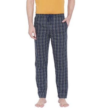 Crimsoune Club | Crimsoune Club Mens Checked Navy Blue Lounge Pants