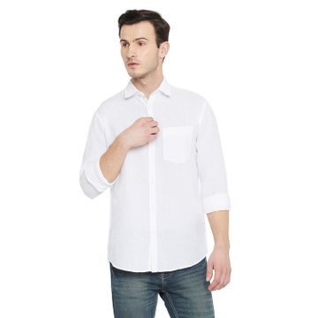 Crimsoune Club | Crimsoune Club Men's White Solid Shirt