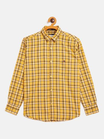 Crimsoune Club | Crimsoune Club Boy's Checked Yellow Shirt