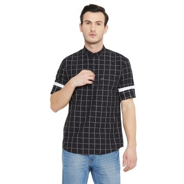 Crimsoune Club | Crimsoune Club Men's Black Check Kurta