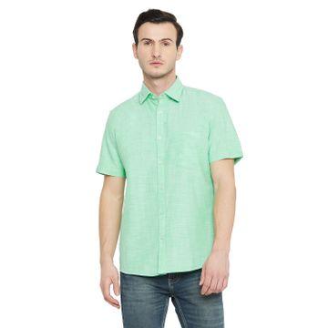 Crimsoune Club   Crimsoune Club Men's Green Solid Shirt
