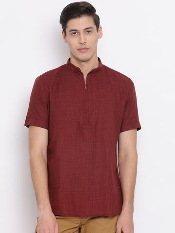 Crimsoune Club | Crimsoune Club Solid Maroon Men's Kurta