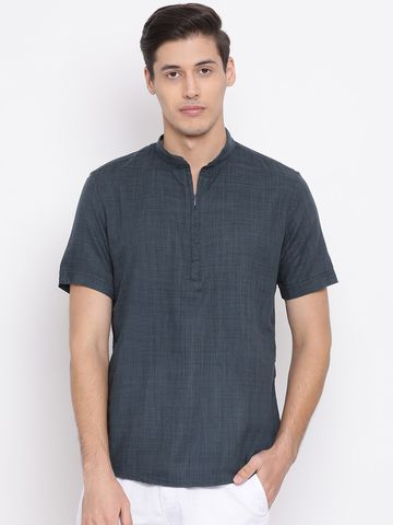 Crimsoune Club | Crimsoune Club Solid Navy Blue Men's Kurta