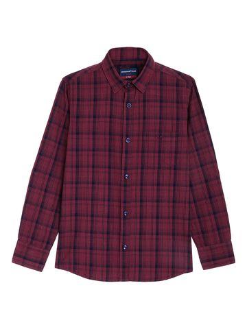 Crimsoune Club | Crimsoune Club Boy's Maroon Checked Shirt