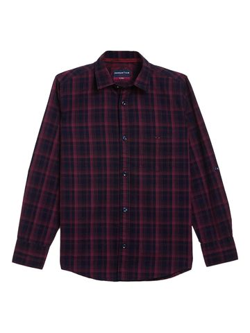 Crimsoune Club | Crimsoune Club Boy's Navy Blue Checked Shirt